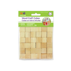 "Craftwood 3/4"" (20mm) cubes - 12/pkg - Cat# 70-2670-00"