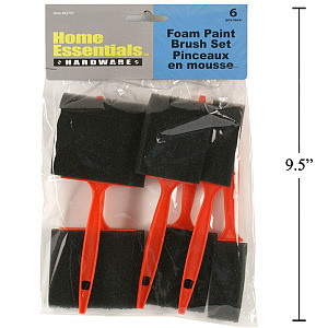 6-pc. Foam Brushes Set, pbh - Cat# 70-3430-00