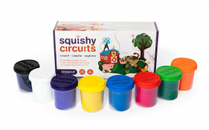 Squishy Circuits - Dough Kit - 7 containers - Cat# SQ-98357