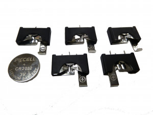 3V Coin Cell Holders - 5/pkg - Cat# 70-3216HLD