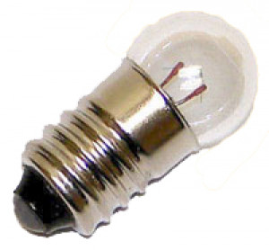 Round MES Screw type bulbs - 1.5V - 25/pkg - Cat# 80-3517-00