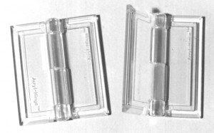 Clear Acrylic Hinges - Cat# 80-4247-00