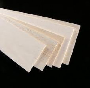 "Balsa Wood Sheets - 4"" x 18"" x 1/8"" (3mm) 6/pk - Cat# 83-AW404"