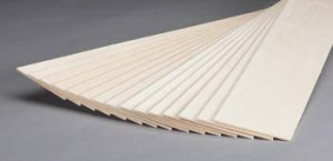 "Basswood Sheets - 4 x 24 x 1/8"" - 6/pkg - Cat# 83-BW404"