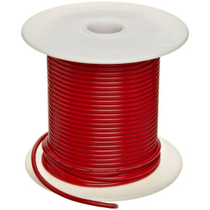 22 AWG Stranded Red Wire - 25' - Cat# 80-3505X00